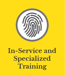 In service and specialized training.